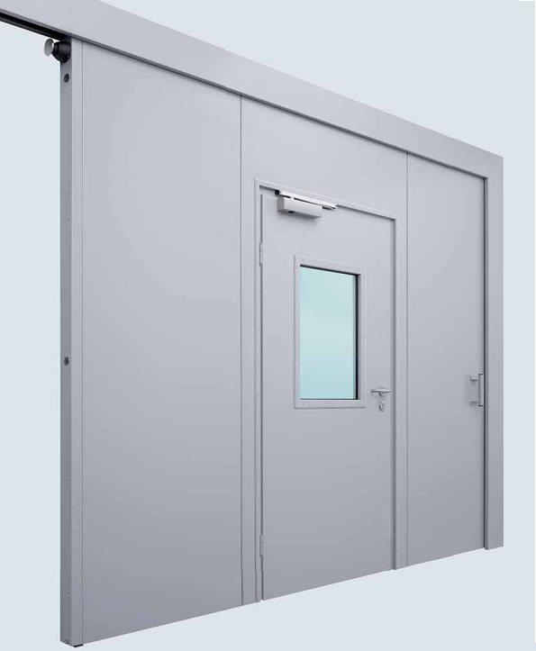 противопожарные ворота железные двери